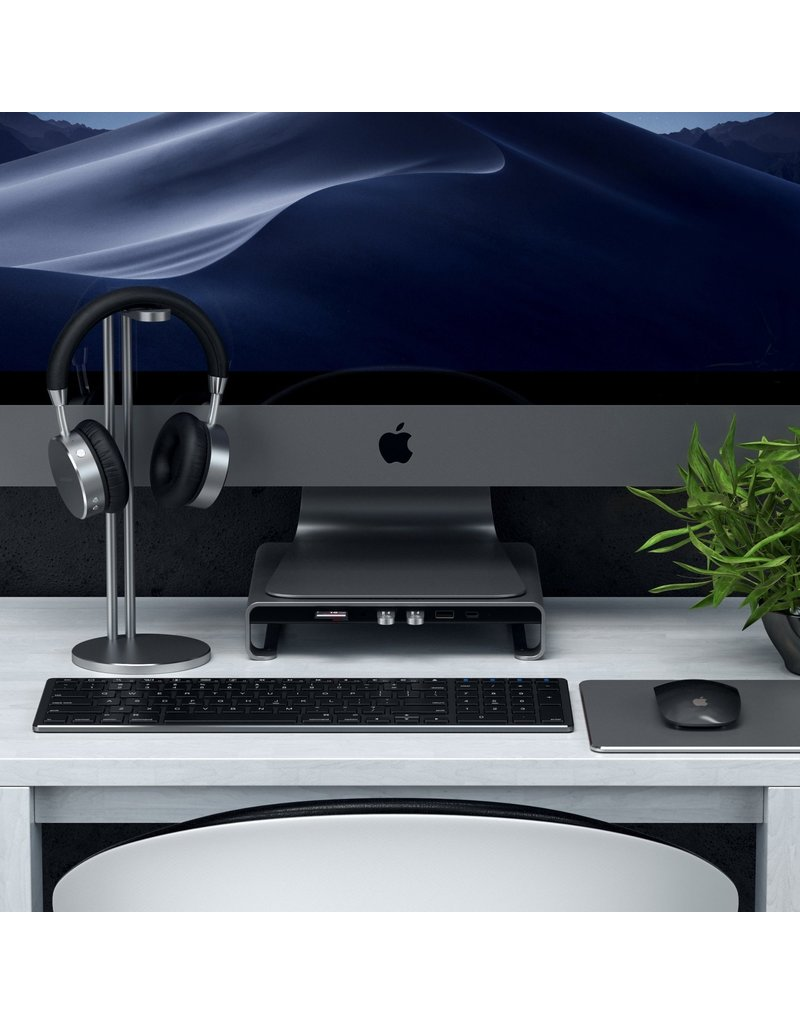Satechi SATECHI TYPE-C ALUMINUM MONITOR STAND HUB FOR IMAC SPACE GRAY