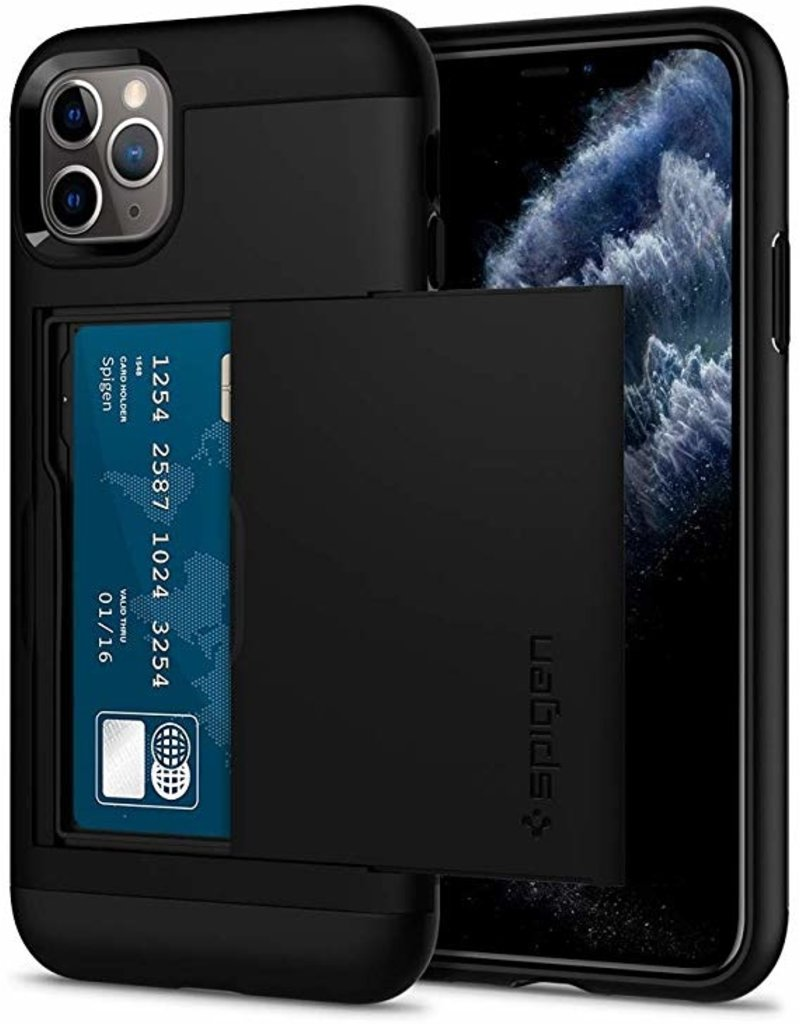 SPIGEN Spigen Slim Armor Essentials Case for Apple iPhone 11 Pro Max- Black