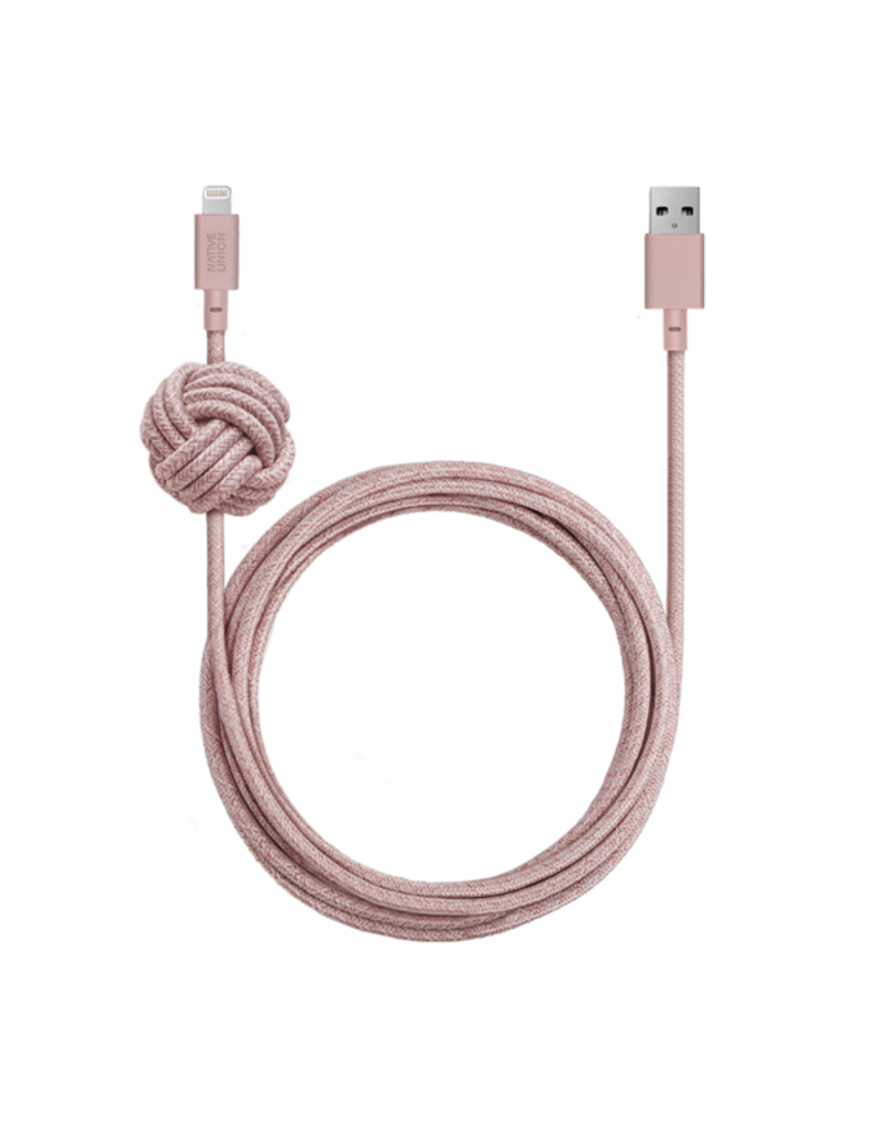 NATIVE UNION Native Union Night Lightning Cable 10ft - Rose