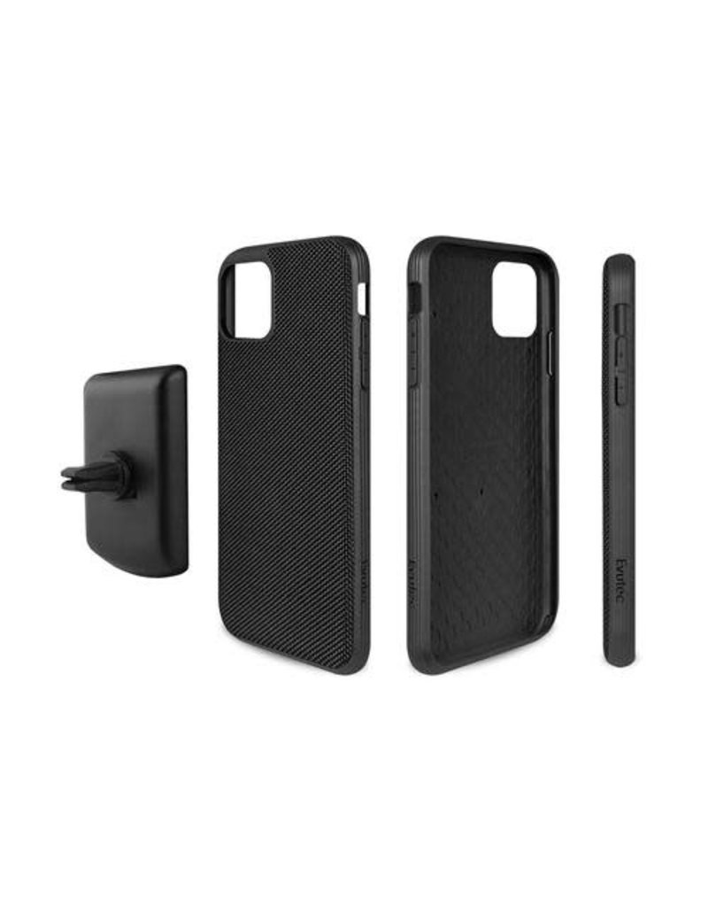 Evutec Evutec (Apple Exclusive) Ballistic Nylon Case with AFIX+ Mount for iPhone 11 - Black