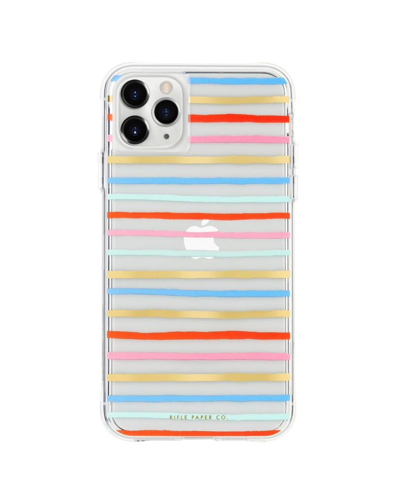 Case-Mate Case-Mate (Apple Exclusive) Rifle Paper Case for iPhone 11 Pro Max - Happy Stripes