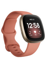Fitbit Fitbit Versa 3 Smartwatch - Pink Clay/Soft Gold Aluminum