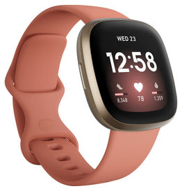 Fitbit Fitbit Versa 3 Smartwatch - Pink Clay/Soft Gold Aluminum