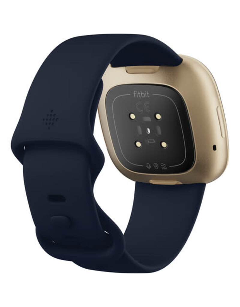 Fitbit Fitbit Versa 3 Smartwatch - Midnight/Soft Gold Aluminum