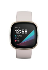 Fitbit Fitbit Sense Smartwatch - Lunar White/Soft Gold Stainless Steel