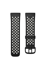 Fitbit Fitbit Versa 3 & Sense Accessory Sport Band Large - Black/Lunar White