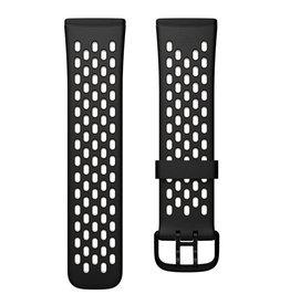 Fitbit Fitbit Versa 3 & Sense Accessory Sport Band Large - Black/Lunar White