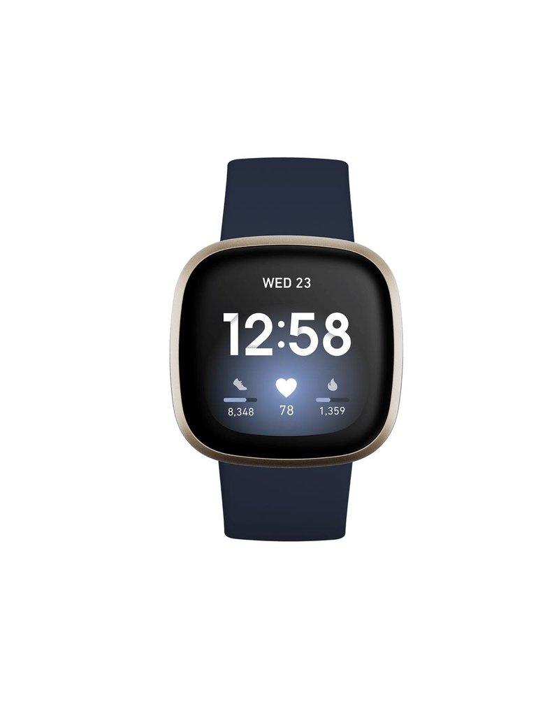 Fitbit Fitbit Versa 3 & Sense Accessory Infinity Band Large - Midnight