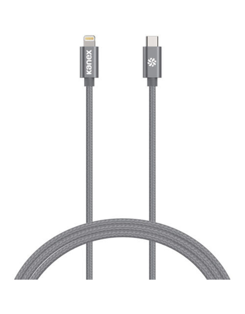 KANEX Kanex DuraBraid Premium USB-C to Lightning Cable 2m - Space Gray