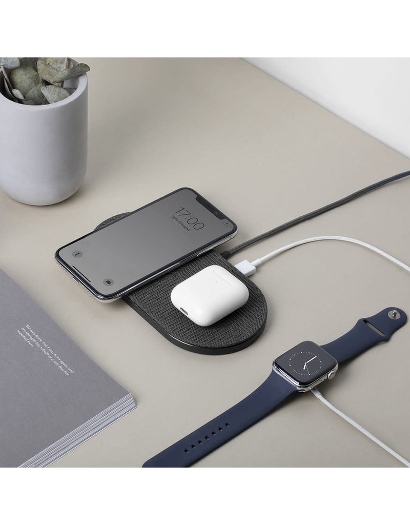 NATIVE UNION Native Union Drop XL Dual Wireless Charger 10W - Fabric Slate
