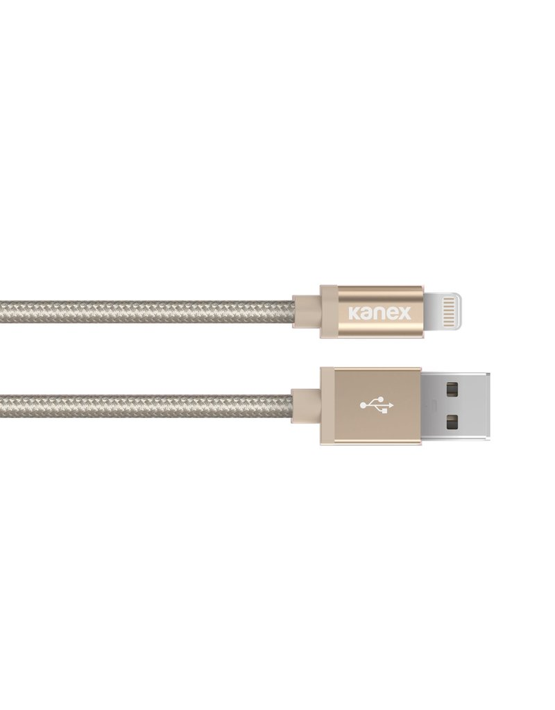 KANEX Kanex DuraBraid Premium USB-C to Lightning Cable 1.2m - Gold