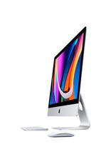 APPLE Apple 27-inch iMac with Retina 5K display 3.1GHz 6-core 10th-generation Intel Core i5 processor, Turbo Boost up to 4.5GHz 16GB 2666MHz DDR4 memory 256GB SSD storage Radeon Pro 5300 with 4GB of GDDR6 memory Gigabit Ethernet Standard glass Apple Magic Mouse