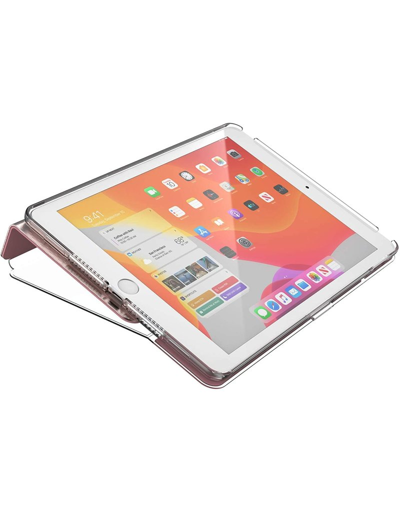 """Speck Speck (Apple Exclusive) Balance Folio Clear Case for iPad 10.2"""" 7/8 Gen - Rose Gold Woven Metallic/C"""
