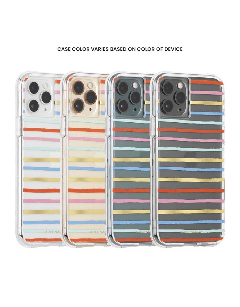 Case-Mate Case-Mate (Apple Exclusive) Rifle Paper Case for iPhone 11 Pro - Happy Stripes