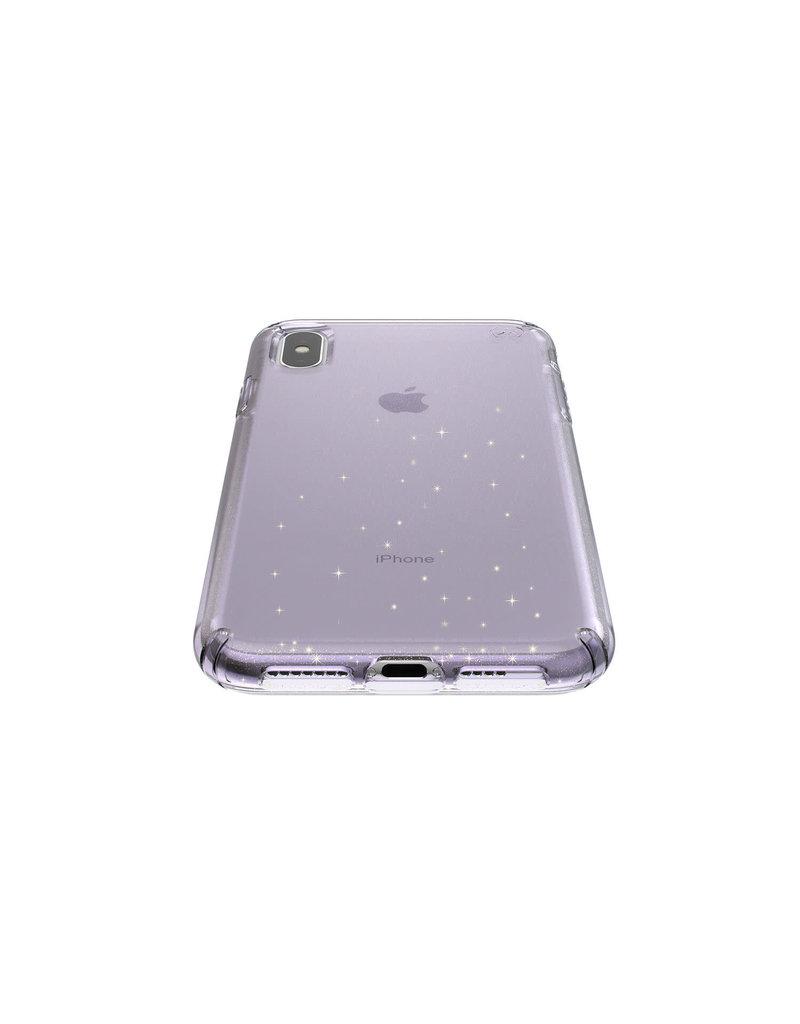 Speck Speck  Presidio Clear + Glitt  iPhone XS Max - Geode Purple /Gold Glitter