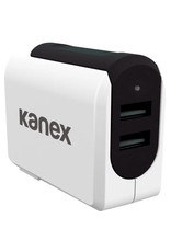 KANEX Kanex 3.4A 2-Port Wall Charger, Black (Packaging) - White