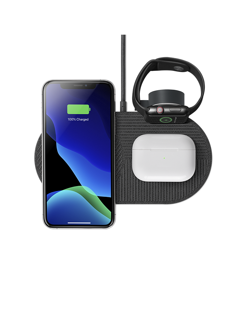 NATIVE UNION Native Union Drop Charge Apple Watch + AirPods + iPhone Pad Slate