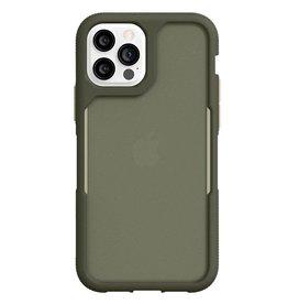 Griffin Griffin (Apple Exclusive) Survivor Endurance Case for iPhone 12/12 Pro - Olive Green/Bone White/Smoke