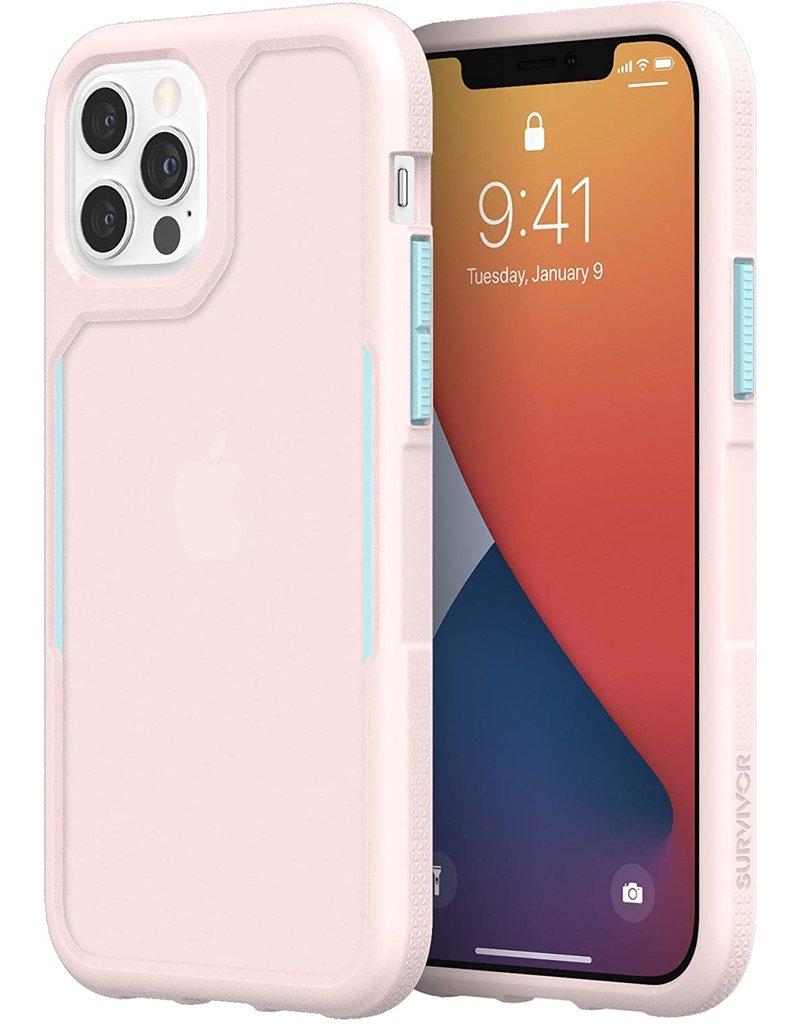 Griffin Griffin (Apple Exclusive) Survivor Endurance Case for iPhone 12/12 Pro - Cloud Pink/Sky Blue/Cloud P