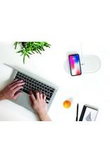 miniBatt miniBatt PowerAIR Double Qi Wireless Charger 4 Coils 15W Fast Charge - White