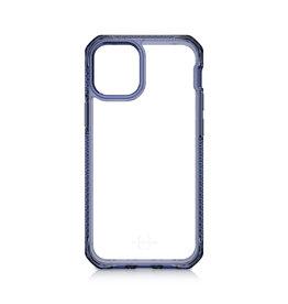 ItSkins ItSkins Hybrid Clear Case for iPhone 12 Mini - Deep Blue and Transparent