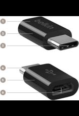 BELKIN Belkin USB-C to Micro USB  Adapter Black