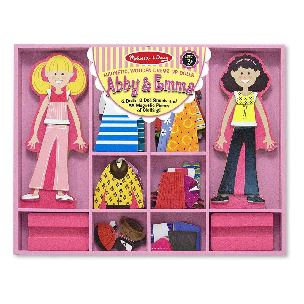 Melissa  Doug Joey Magnetic Dress-Up Set Pretend Play, 6 Outfits, 26 Magnetic