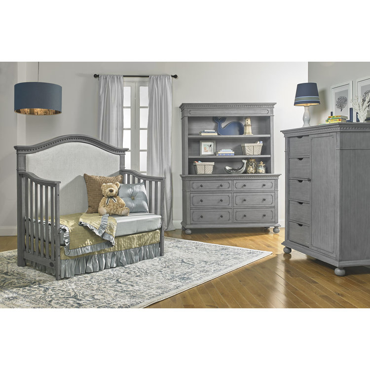 Dolce Babi Naples Hutch Bookcase Nantucket Grey