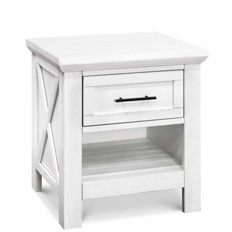 Franklin Amp Ben Emory Farmhouse Nightstand In Linen White