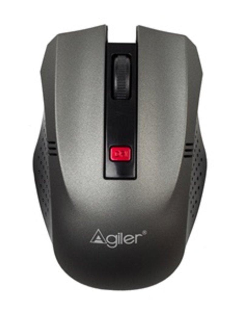 Agiler Agiler wireless mouse black and grey rubber AGI-2095GR
