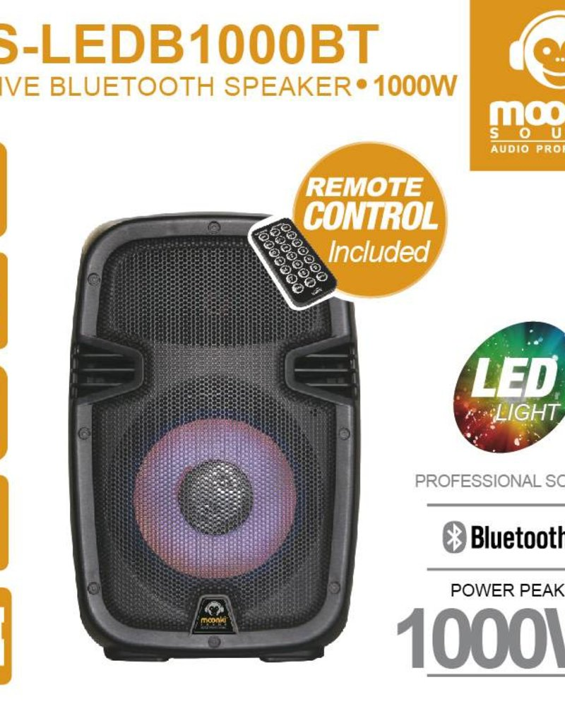 "Moonki Active Bluetooth Speaker 8"" SD, USB, Mic"