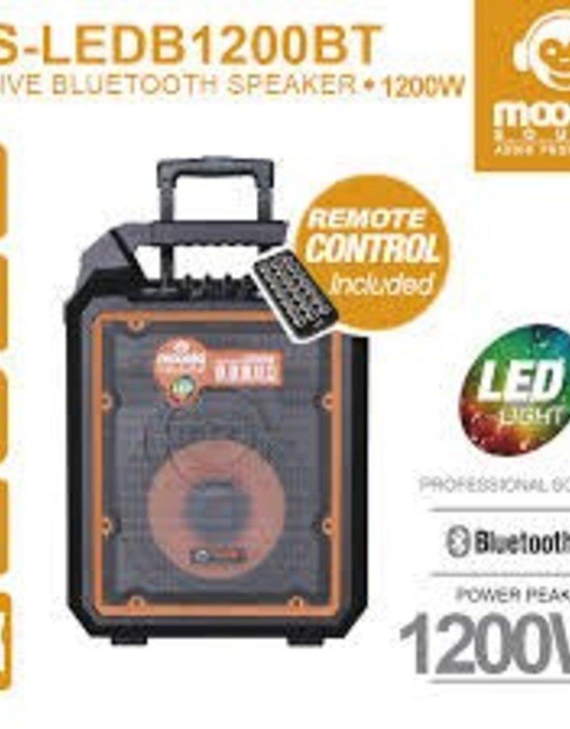 "Moonki Active Bluetooth Speaker 10"" MS-LED1200BT SD USB Mic"