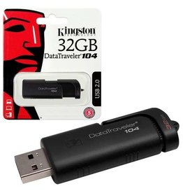 Kingston Kingston 32GB Flash Drive USB 2.0 DT104/32GB