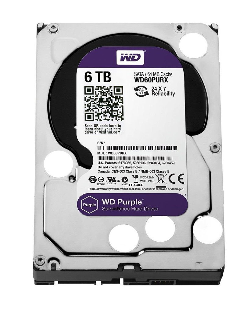 "WD Western Digital 6TB 3.5"" Purple Surveillance Drive"