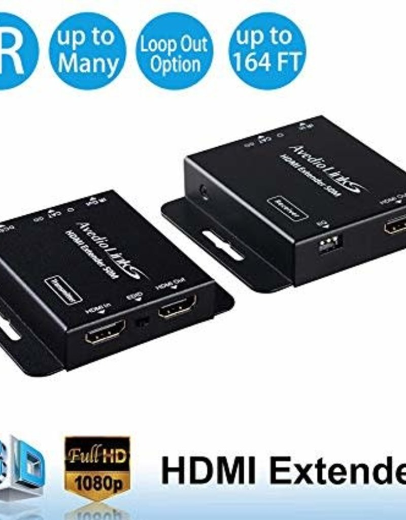 OREI 164ft HDMI Extender Over Single CAT5/6 with Loop Out