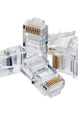 Agiler Agiler Cat6 RJ45 Ends 100 PCS Bag AGI-1418 single