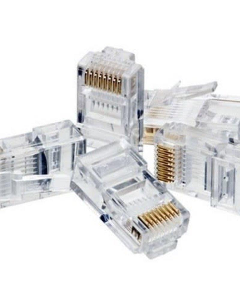 Agiler Agiler Cat6 RJ45 Ends 100 PCS Bag AGI-1418 single