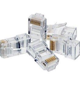 Agiler Agiler Cat6 RJ45 Ends 100 PCS Bag AGI-1418
