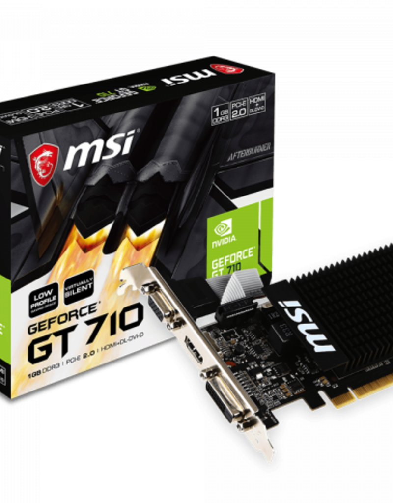 MSI MSI GeForce GT 710 1GB DDR3 GT 710 1GD3H Low Profile Bracket Included