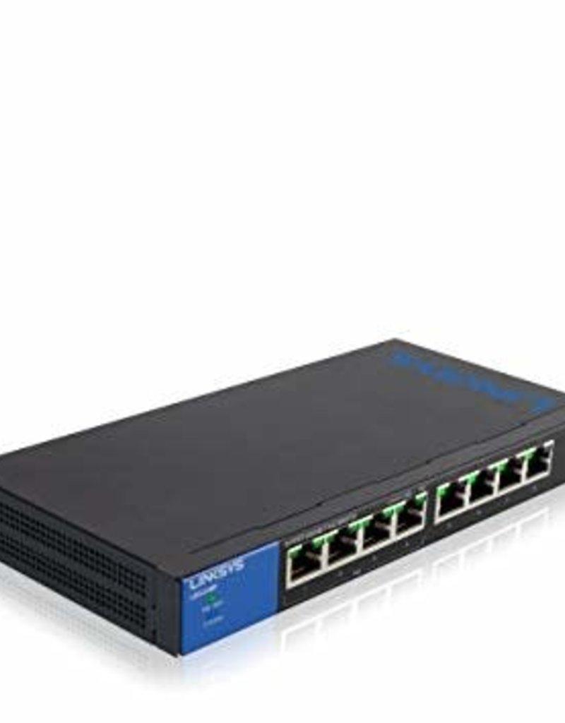 Linksys Linksys 8 Port With 4 Port POE+ Gigabit Unmanaged Switch LGS108P