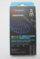 Xtreme Xtreme Rapid Charge Micro USB Cable Blue 3ft