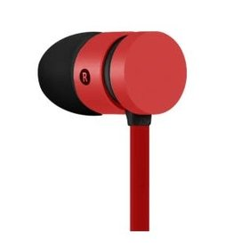 IMEXX IMEXX Earphone With Microphone  FLAT Cable RED IME-21520