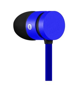 IMEXX IMEXX Earphone With Microphone FLAT Cable Blue IME-21522