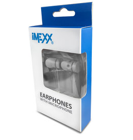 IMEXX IMEXX Earphone With Microphone FLAT Cable White IME-21645