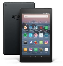 "Amazon Fire HD 8 Tablet with Alexa, 8"" HD Display, 32 GB, Black"