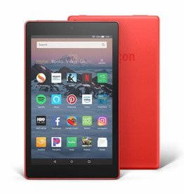 "Amazon Fire HD 8 Tablet with Alexa, 8"" HD Display, 32 GB, Red"
