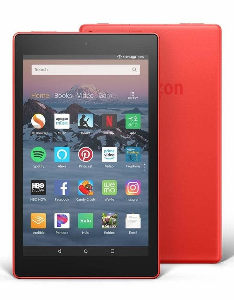 """Amazon Fire HD 8 Tablet with Alexa, 8"""" HD Display, 32 GB, Red"""