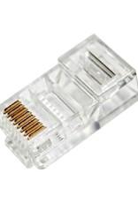 IMEXX IMEXX RJ45 8P8C CAT5E 3PRONG GOLD (100XBAG) IME-10145E single