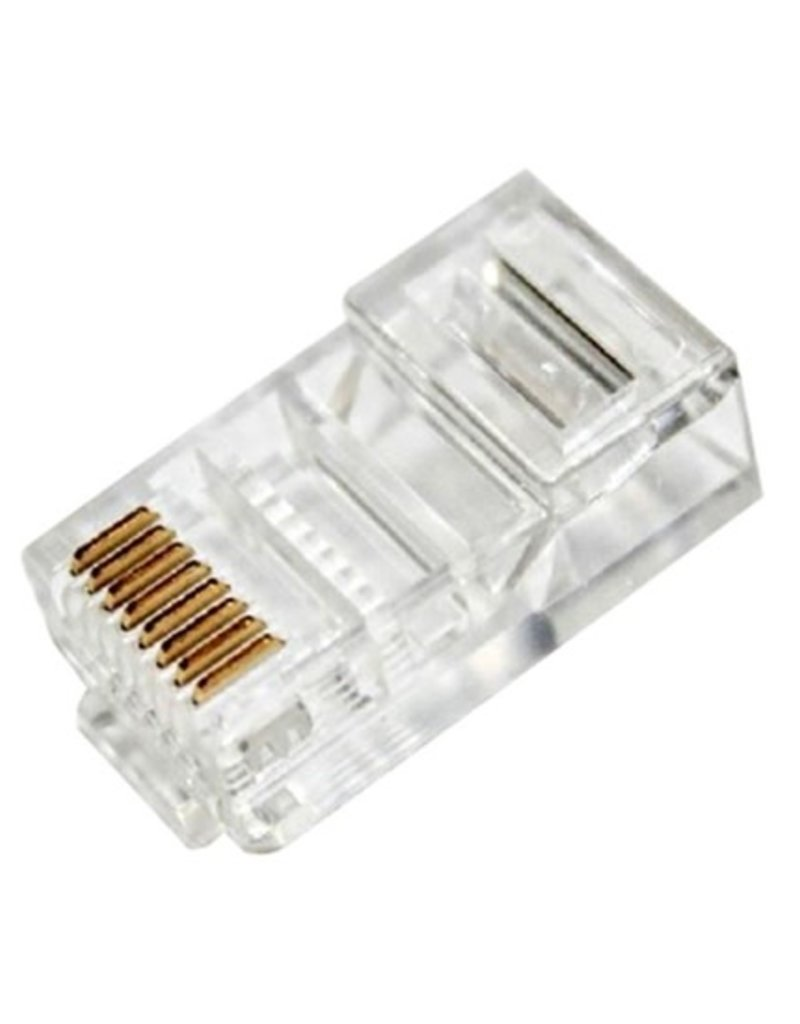 IMEXX IMEXX RJ45 8P8C CAT5E 3PRONG GOLD (100XBAG) IME-10145E single