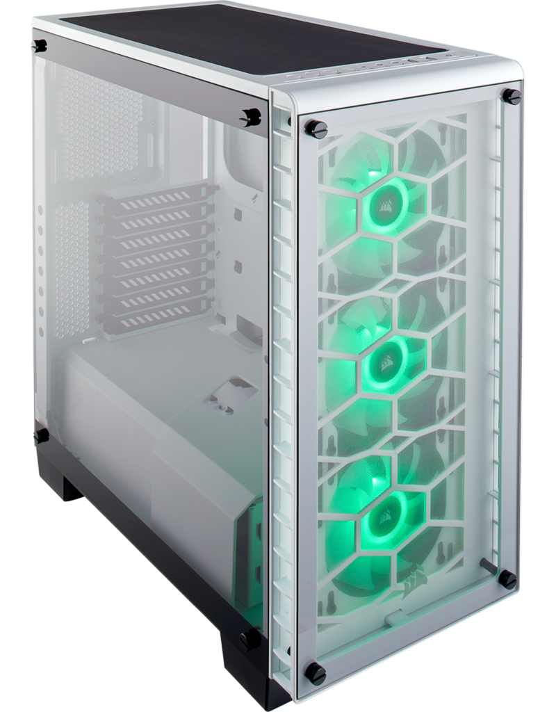 CORSAIR Corsair Crystal 460X RGB Mid-Twr ATX Temp Glass White CC-9011129-WW